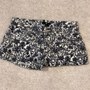Floral H&M jean shorts